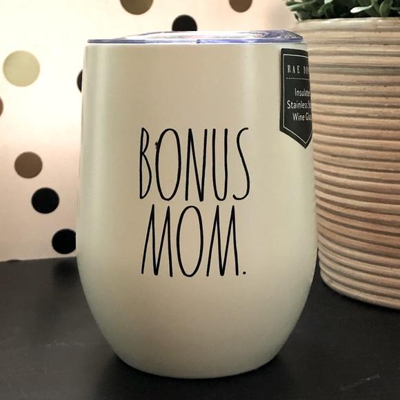 Rae Dunn BONUS MOM stainless steel wine tumbler